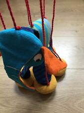 Handmade Cotton Soft Elephant Mobile Puppet Toy Excellent Condition