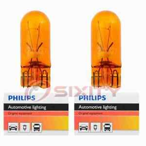 2 pc Philips Front Side Marker Light Bulbs for Chevrolet Astro Bel Air jh