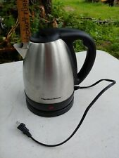 Hamilton Beach Coffee pot electric Warmer Model stainless steel black silver