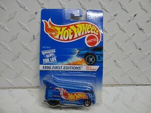 Hot Wheels 30th Anniversary Blue Volkswagen Drag Bus on Card