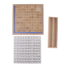 Wooden Toys Montessori 1-100 Consecutive Numbers Educational Game for Kids