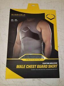 EVOSHIELD Custom Molding Male Chest Guard Shirt YL Gray