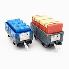 Thomas Trackmaster Troublesome Trucks Blue Paint Bricks Loads Train Cars Lot 2