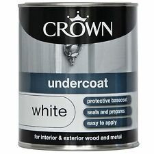 CROWN Capa Base - Blanco - madera y metal - Juntas Y PREPARA - 750ml Pintura