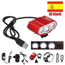 15000LM 3x XM-L T6 LED USB Frontal Bicicleta Lampara Linterna Faro luz 4*18650