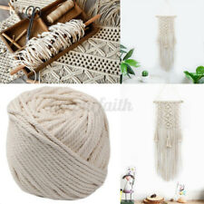 39FT 12mm Macrame Rope 3 Strand Natural Cotton Twisted Cord DIY Handcraft String