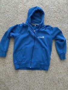 Cinelli Reflective Zip Hoodie Sweater Blue Size Medium