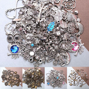 50g Tibetan Silver Mixed Charms Pendants For DIY Jewelry Making Craft