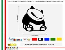 Sticker PANDA NERVOUS prespaziato DUB DRIFT Adesivo Decal Vinile Auto Finestrino