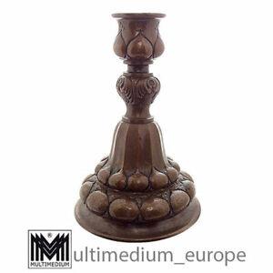 Antiker Jugendstil Kerzenleuchter Kerzenhalter Kupfer Arts & Crafts 🌺🌺🌺🌺🌺