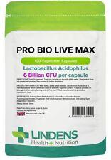 Lindens Probiotische Max 6 Milliarden KBE 100 Kapseln Acidophilus Probiotika