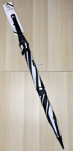 "Callaway Golf Clean 60"" Double Canopy Umbrella Black White Logo Soft"