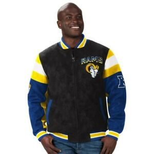 Los Angeles Rams Suede Leather Jacket NWT
