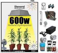 600W HPS Grow Light Lamp Magnetic Ballast Nutrients Clay Balls Tent Hydroponics