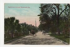 USA, Oglethorpe Avenue, Savannah, Ga.  Postcard, A810