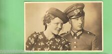 #A.  MILITARY  POSTCARD - WWII  GERMAN SOLDIER & WIFE
