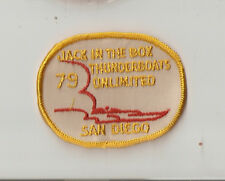 1979 Jack In The Box Thunderboats Unlimited Embroidered Patch - San Diego, Ca.