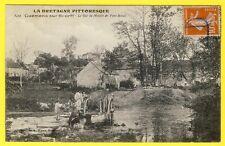 cpa Bretagne 56 - GUÉMENÉ sur SCORFF Le GUÉ du MOULIN de PONT BIHAN Attelage