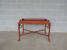 "Hollywood Regency Bamboo Tray Top Coffee / Cocktail Table 32""W x 19""D"