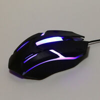 Adjustable Design 1200 DPI USB Wired Optical Gaming Mice Mouse For PC Laptop