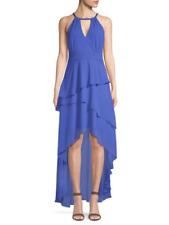 LAUNDRY NewWT L@@K DAZZLE BLUE Chiffon Asymmetrical Tiered Gown 0,2,4,8,10,12