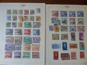 CYPRUS (11-51) VICTORIAN TO MODERNISH ON 20 PAGES GOOD SPREAD MM / USED