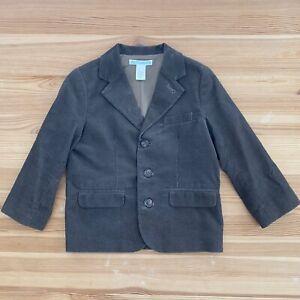 JANIE AND JACK Brown Corduroy Blazer Jacket Size 2T