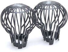 2pc Down Pipe Filters To Stop Blockages Rain Gutter Outdoor
