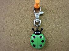 New Green & Black Ladybug Clip Quartz Watch White Dial Ladybugs