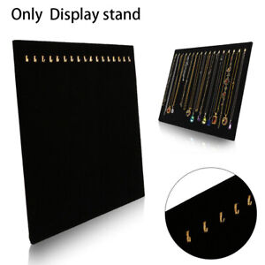 AU Velvet Jewelry Display Rack Necklace Bracelet Stand Organizer Holder Storage