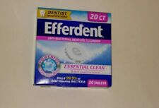 EFFERDENT ANTI-BACTERIAL DENTURE CLEANSER (20TABLETS/1BOX) DENTIST RECOMMEND!!!!