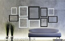 Black & White 10 Piece Multi Picture Frame Photo Frame Collage Wall Table Set