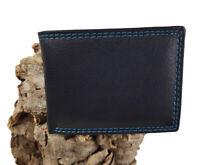 Neu Vintage Rindsleder Herren Ledergeldbörse Klein Brieftasche Portemonnaie RFID
