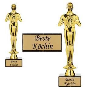 Siegerfigur Beste Köchin Starköchin Küche Geschenk Geschenkidee
