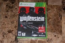 (NEW SEALED) WOLFENSTEIN THE NEW ORDER XBOX 360 Free Shipping