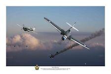 "WWII WW2 RAAF P-40 Kittyhawk Pacific Aviation Art Photo Print - 8"" X 12"""