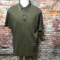 TOMMY BAHAMA MEN'S SALT WASHED PIMA COTTON SHORT SLEEVE POLO SHIRT SIZE L A34-05