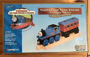 1999 Learning Curve Thomas Train Wooden LTD 10 Years In America Set! NEW