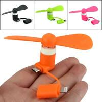 2in1 Portable Cellphone Mini Micro USB Fan Cooling Cooler for iPhone Android New