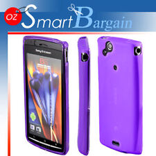 PURPLE Soft Gel Case For SONY ERICSSON XPERIA ARC X12