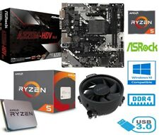 More details for amd ryzen 5 2600 bundle - 6 core - asrock a320m-hdv motherboard - with cooler
