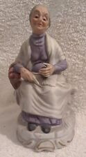 Vintage Ardco Ceramic Old Woman Sitting with a Basket of Fruit Made in Japan