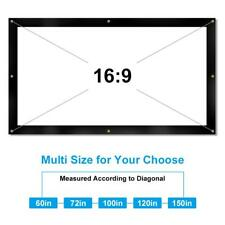 72 Inch Portable Projection Screen Front & Back Rear Film Cinema Projectors 16:9