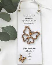 New Job Personalised Keepsake Gift Butterfly Plaque Sign Good Luck P108