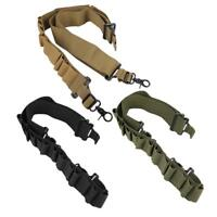 Tactical Adjustable Rifle Sling Gun Strap Bullets Ammo Carry Shoulder Storage