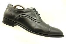 c55807ba0f0 Mezlan March Black Leather Cap Toe Dress Oxfords Shoes Men s 9.5 M