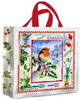 Christmas Garden PVC Medium Gusset Bag by Samuel Lamont