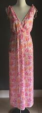 Pretty TARGET Pink/Orange/White Floral Shirred Waist Maxi Dress Size 18