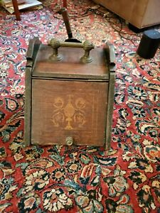 Antique Wood Coal Or Wood Fireside Box