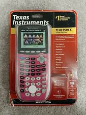 NEW Texas Instruments TI-84 Plus C Silver Edition Color Graphing Calculator Pink